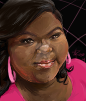 Gabby Sidibe by Jodee