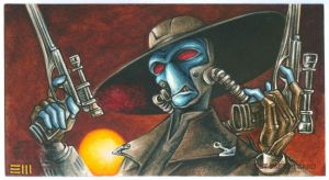 Cad Bane - Clone Wars WideVision Sketch Card by Erik-Maell