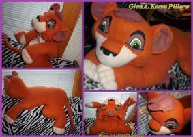 Giant Kovu Pillow by DoloAndElectrik