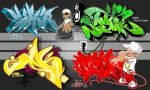 TFK Hiphop Elemental Collab by Graffitiminded