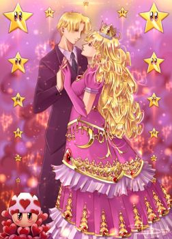 Prince and Princess Peach by soul-sama