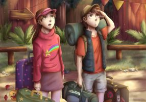 Mabel and Dipper Pines by Amarfis