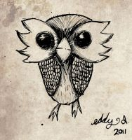 wide eyed owl by SpawnoftheED