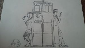 Tenth doctor and OC by HappyLittleBlueNinja