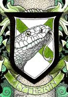 Slytherin House Crest ATC by TempestErika