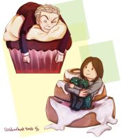 Red Velet Cupcake and Precious Cinnamon Roll by Kataoi