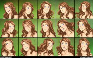 Skye Expression Sheet by laurbits