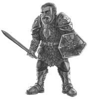 Player Character 06 - Dwarf Fighter by Domigorgon