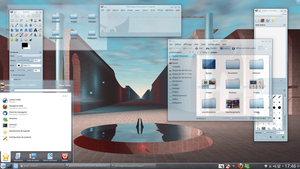 Linux Mint 13 KDE - Blue Sora by LiquidSky64