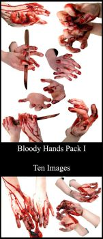 528 - Bloody Hands Pack I by Blood--Stock