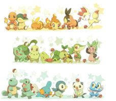 All Starters from all gens 1 by PoKeMoNosterfanZG