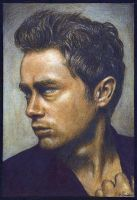 James Dean by squirrelyartist