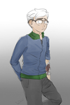 white haired  boy by Imgine
