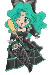Sailor Neptune in Achika's outfit by DarkSaph