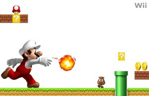 Super Mario level Wallpaper by linkintek06