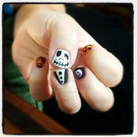 Nightmare before Christmas nails by FatimattiDesigns