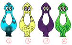Mystery Squid Adopts (Closed) by Urunami