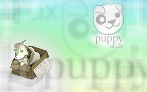 Puppy Linux  Wallpaper by Ihara