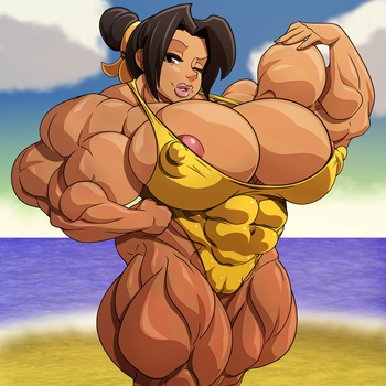 Voluptuous muscle girl by devmgf