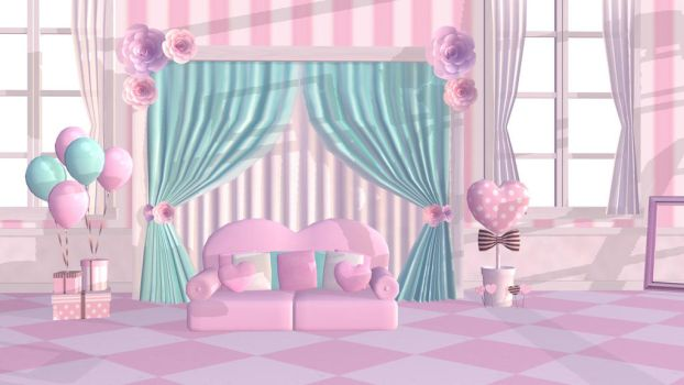Sweet Room Stage MMD DL by mmdspot