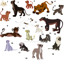 HUGE Lion adoptables  1 point each!!! by WolfLover778