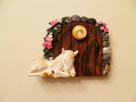 Lily's Unicorn Fairy Door by FlyingFrogCreations