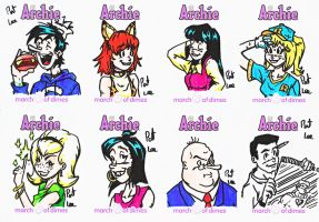 Archie Sketch Cards Page 3 by Patorik