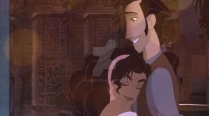 Tulio and Esmeralda by Pahua