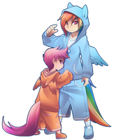 Rainbowdash And scootaloo by phation
