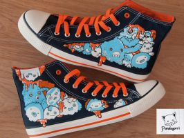 Monster shoes / Zapatillas monstruos by Pandagorri