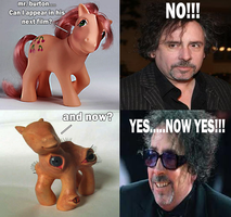 Tim Burton and the Little Ponny by happyfacekiller88