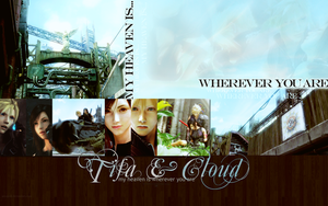 Tifa and Cloud: Wallpaper by areopoli