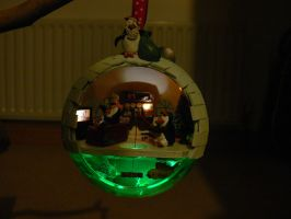 Igloo Bauble (Lights on) by Jalpon