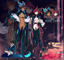 [AUCTION] celestial nights duo! CLOSED! TY by mintcrunch
