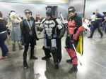 Nightwing, Batman and Robin cosplay by Shippuden23