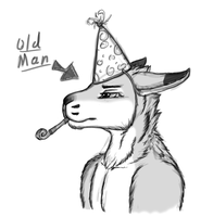 Old man's b-day surprise! by WulfGecko