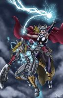 Two Thors walk into a bar... by Flocco