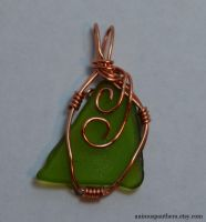 Setting Sail wire-wrapped pendant by Animus-Panthera