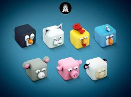 Archigraphs Cubed Animals by Cyberella74