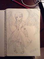 Anime Goth Angel by MidnightElf123