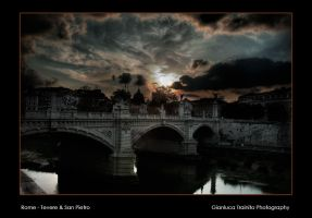 Rome Tevere and San Pietro by gltvisualart