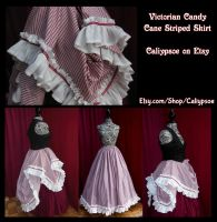 Victorian Candy Cane Skirt by Caliypsoe