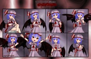 Remilia Scarlet - Expression Meme by Primantis