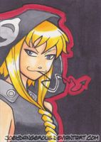 Soul Eater Medusa Sketch card by JoeOiii