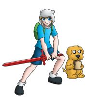 Jake the Dog and Finn the Human by CyborgBeefJerky