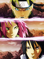 Naruto 632: Team 7 and Sakura by Sensational-X