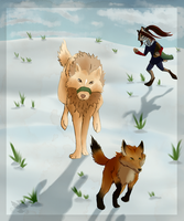 RoH|Fox Chase by DancingFerret