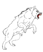 realLY COOL WOLF LINEART by PandoraTheDragon