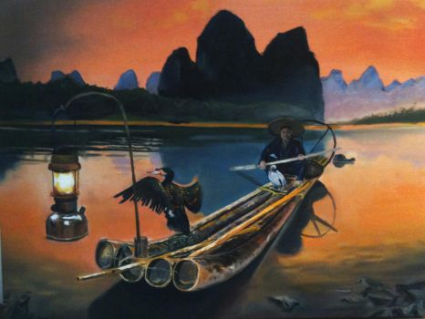 Fisherman in Guilin by luc722