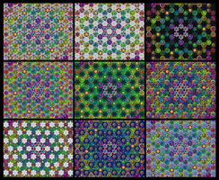 Magic Triangles background variation mix by 8DFineArt
